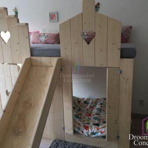 Bedhuisje | Boomhut bed | Steigerhout | Pakhuis bed