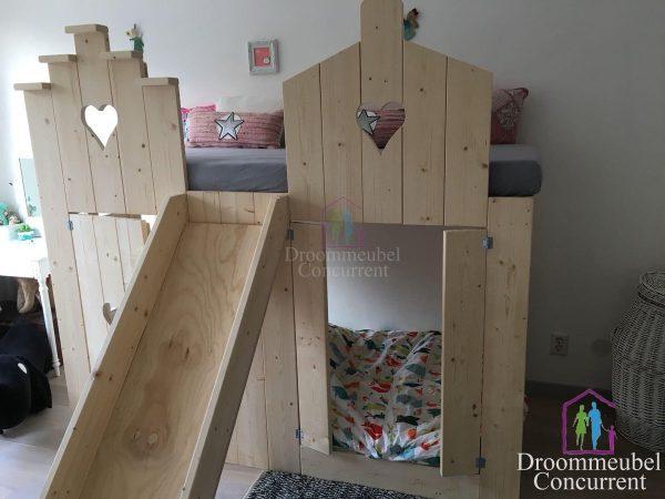 Bedhuisje   Boomhut bed   Steigerhout   Pakhuis bed