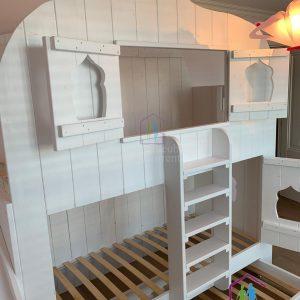 Boomhut bed Aladdin | Bedhuisje | Steigerhout | Stapelbed
