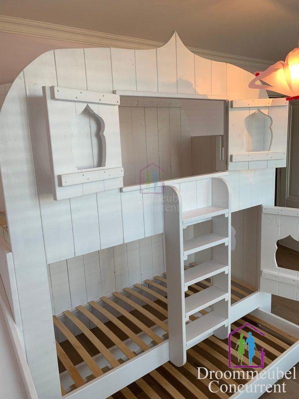 Boomhut bed Aladdin   Bedhuisje   Steigerhout   Stapelbed