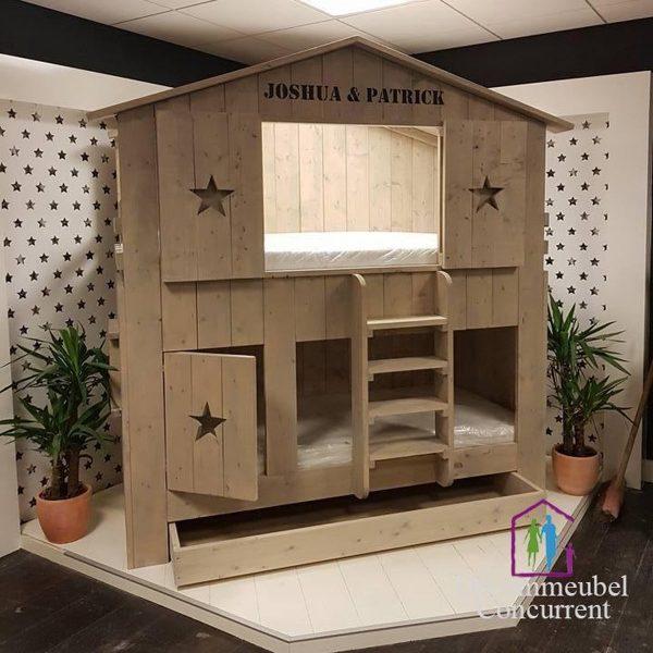 Boomhut bed Chris / Kinderbed / Steigerhout bed / Kinderbed