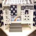 Boomhut bed | Standhuis bed | Kinderbed | Steigerhout