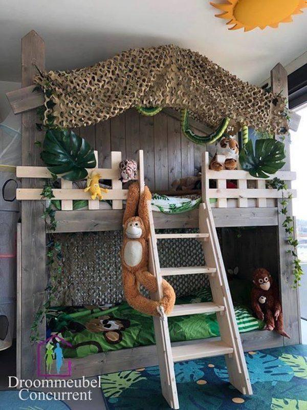 Boomhut bed | Stapelbed Sam | Steigerhout |Bedhuisje