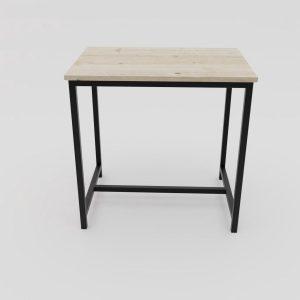 Industriële / landelijke bar tafel - Alabama metaal en steigerhout 80x120x110 (ook op maat naar wens verkrijgbaar) Hoge kwaliteit en 100% stabiel | hout en staal|