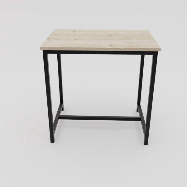 Industriële / landelijke bar tafel - Alabama metaal en steigerhout 80x120x110 (ook op maat naar wens verkrijgbaar) Hoge kwaliteit en 100% stabiel   hout en staal 
