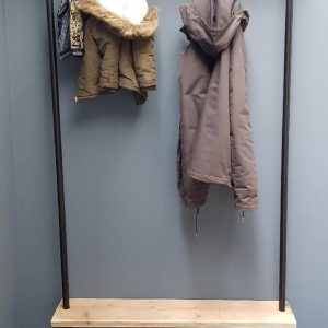 Steigerbuis kapstok | 100cm | 6 haken | wandkapstok | gebruikt steigerhout | industrieel | vintage | robuust | Steigerhouten | Steigerplank | loft