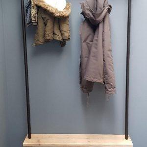 Steigerbuis kapstok | 80cm | 6 haken | wandkapstok | gebruikt steigerhout | industrieel | vintage | robuust | Steigerhouten | Steigerplank | loft