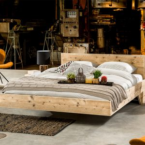 Steigerhout bed Flow
