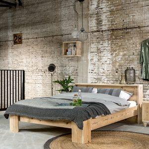 Steigerhout bed Simple