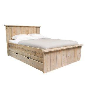 Steigerhout bed met lades multi