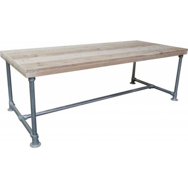 Steigerhout tafel-Steigerbuis-200x80