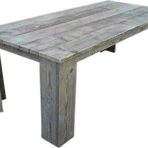 Steigerhouten tafel - 255x80 h - bruin