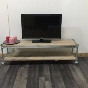 Steigerhouten tv-meubel Steigerbuis - steigerhout - 120x50x50h