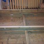 "Twee persoons Bed ""Block"" van Gebruikt steigerhout tweepersoonsbed 180x200cm"