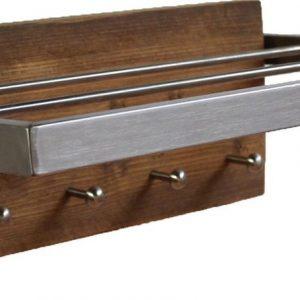 Wimpy Designs | Kapstok in gerecycled steigerhout met RVS hoedenrek