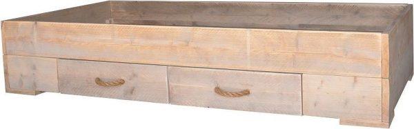 Wood4you - Eenpersoons bed billy steigerhout 206Lx43Hx96D cm