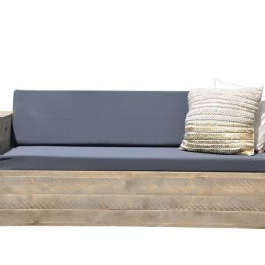 "Wood4you - Loungebank steigerhout ""Washington 230cm met kussens''"