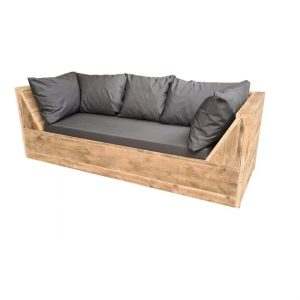 Wood4you - loungebank Phoenix Steigerhout 190Lx70Hx80D cm plof