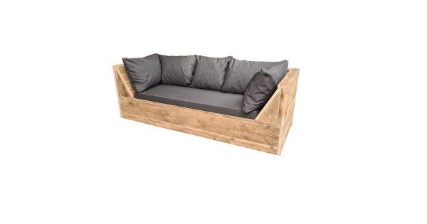 Wood4you - loungebank Phoenix Steigerhout 200Lx70Hx80D cm plof