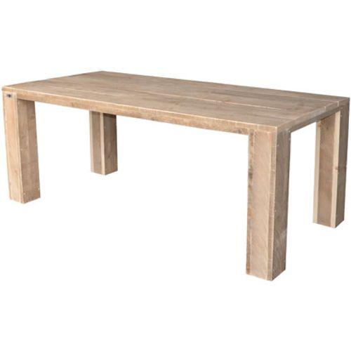 Wood4You tafel blokpoot steigerhout bruin 200x72cm