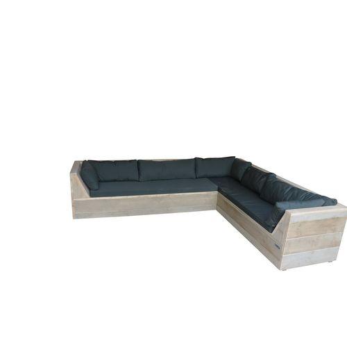 Wood4you loungebank 6 Steigerhout 200x210x70cm