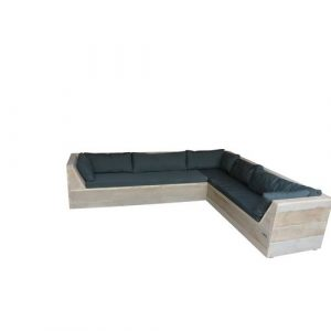 Wood4you loungebank Six steigerhout 200x200x70cm