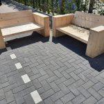 """3 delige Loungeset """"Garden Small"""" van Nieuw steigerhout inclusief tafel 4 persoons"""