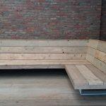 Fancy Loungebank – Steigerhout- Metaal – Industrieel design