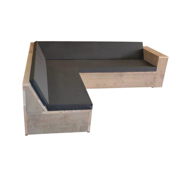 Loungeset Steigerhout San Francisco 220x200 Cm - L-vorm - Incl Kussens