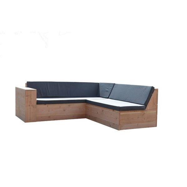 Loungeset Steigerhout ''San Francisco Incl Kussens 200/200 Cm
