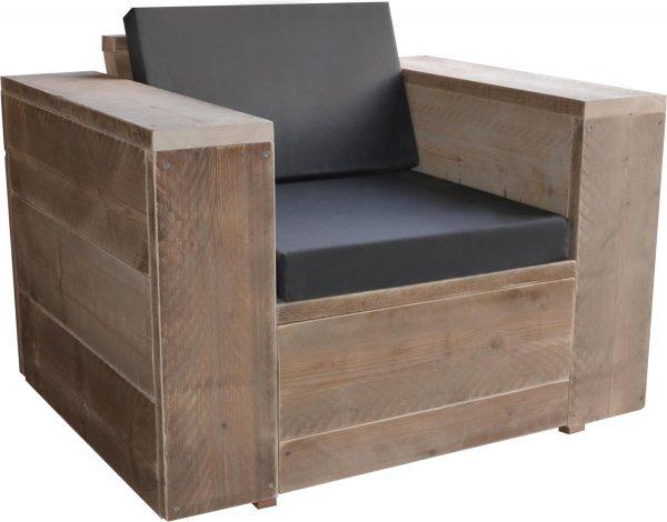 "Loungestoel steigerhout ""Washington met kussens"" - loungestoel - steigerhout - zitstoel"