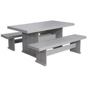 Marseille houten picknicktafel grijs 160 cm