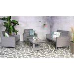 Marseille steigerhouten loungeset grijs