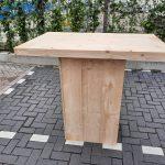 Sta tafel 76x120cm van nieuw blank steigerhout