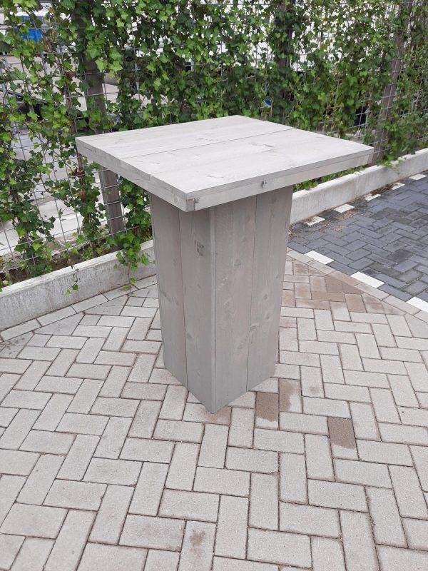 Sta tafel 76x76cm van Grey Wash steigerhout