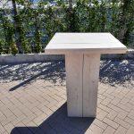 Sta tafel 76x76cm van White Wash steigerhout