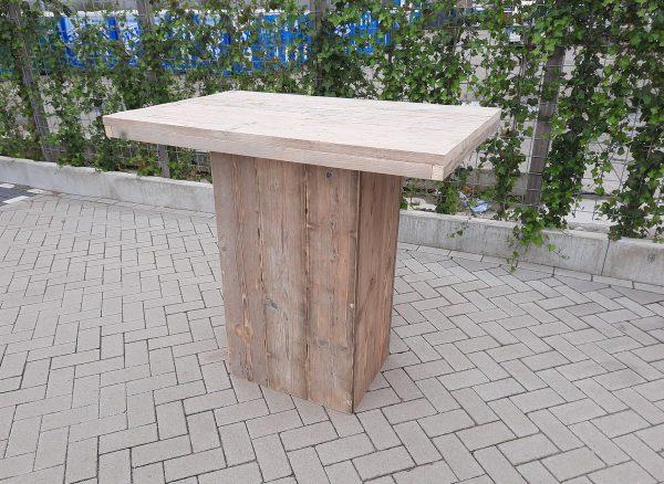 Sta tafel van Gebruikt steigerhout 76x120cm