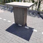 Sta tafel van Grey Wash steigerhout 76x120cm