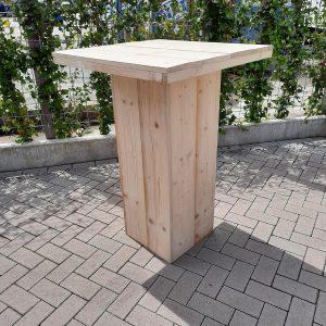 Sta tafel van nieuw steigerhout 76x76cm