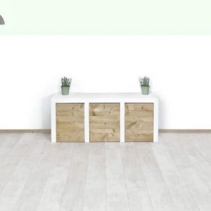 Steigerhout dressoir Rol lade- 160x40x80 hoog