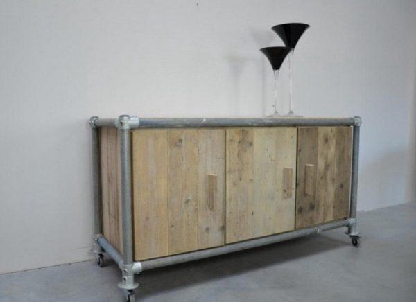 Steigerhout dressoir Steigerbuis - steigerhout - 180x50x80h