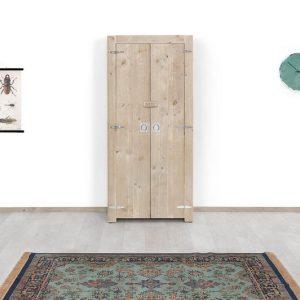 Steigerhouten kast Sophie - steigerhout - 80x63x180h