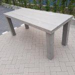 "Tafel ""Blokpoot"" van Grey Wash steigerhout 76x180cm 4 tot 6 persoons tafel"