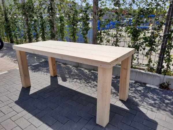 """Tafel """"Blokpoot"""" van Nieuw steigerhout 76x140cm"""