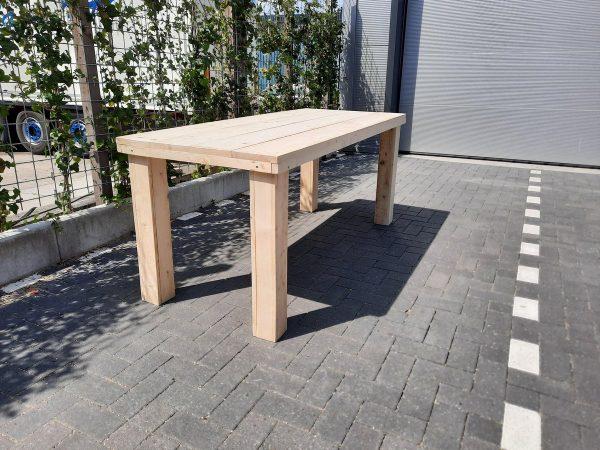 """Tafel """"Blokpoot"""" van Nieuw steigerhout 96x210cm 6 tot 8 persoons tafel"""