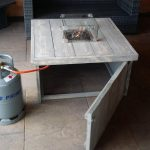 Vuurtafel Block Terrasverwarmer 100x100x50cm van Grijs geschuurd steigerhout