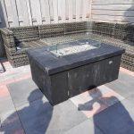Vuurtafel Block Terrasverwarmer 80x120x50cm van Black Wash steigerhout