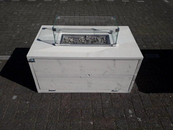 Vuurtafel Boxxx Terrasverwarmer 60x100x50cm van White Wash steigerhout