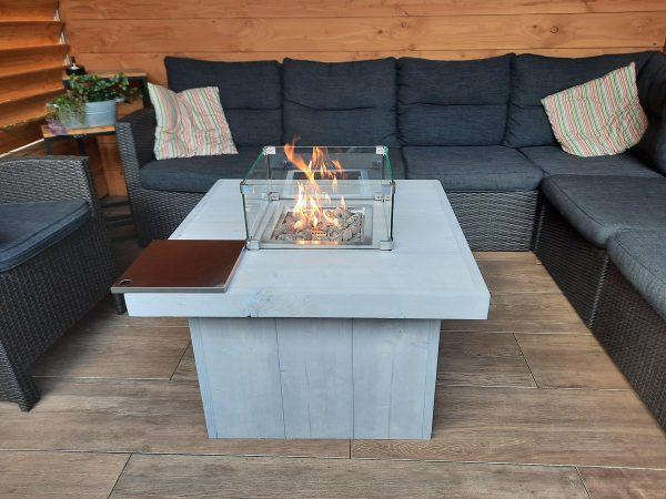 Vuurtafel Tree Terrasverwarmer 80x80x55cm van Grey Wash steigerhout