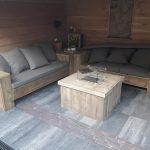 Vuurtafel block gebruikt steigerhout 80x80x50